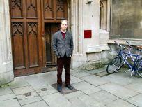 Professor Adam Roberts outside Pembroke College, Oxford