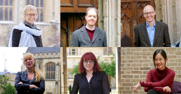 Kij Johnson (2013), Adam Roberts (2014), Lev Grossman (2015), Terri Windling (2016), and V.E. Schwab (2018), together with forthcoming speaker Rebbeca F. Kuang